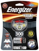 Челник Energizer Vision HD PLUS FOCUS + 3бр. ААА  300lm