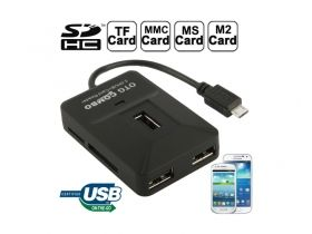 OTG Smart micro USB 2.0 HUB + Card Reader